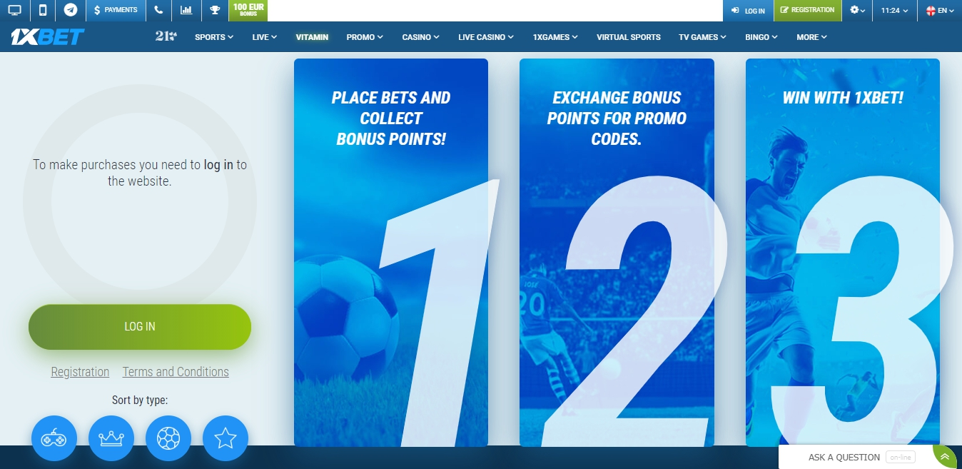 how to get points in 1xBet