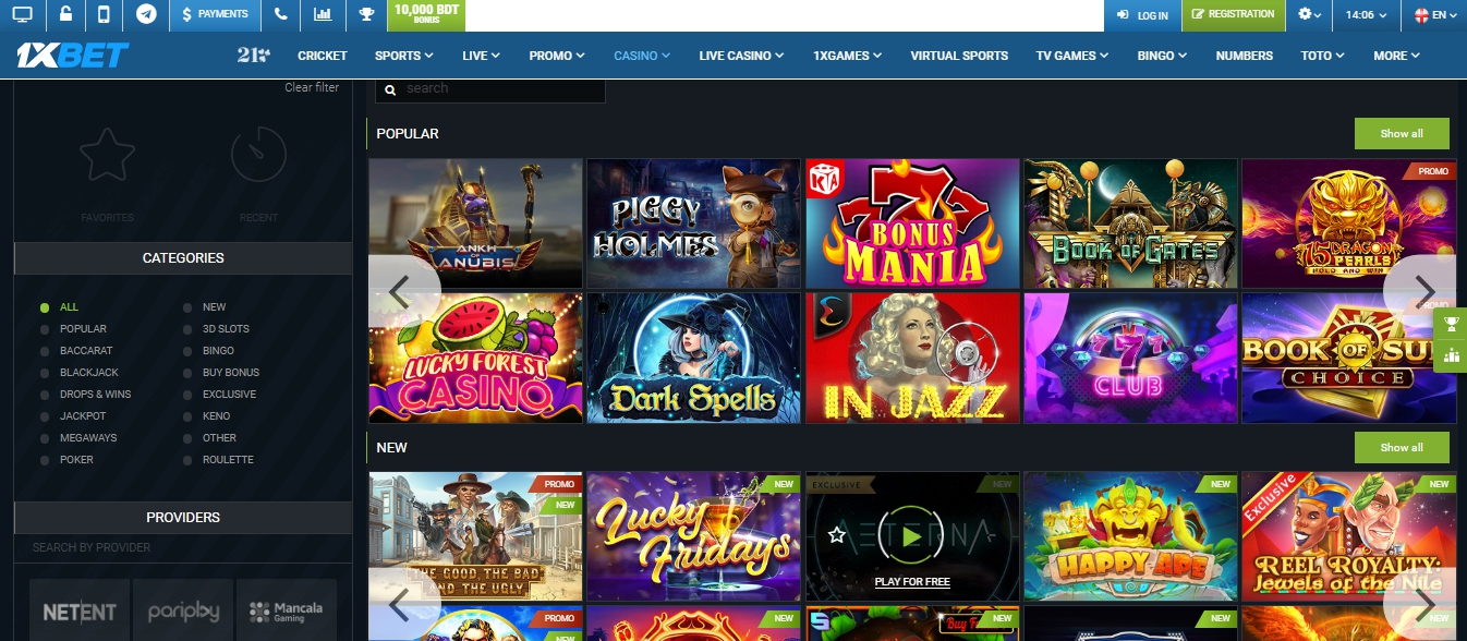 1xBet Live Casino every day